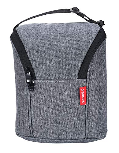 Lightweight Insulated Mini Lunch Bag,Cooler Lunch Box For Women,Men & Kids, Compact Lunch Pail for Office Grey