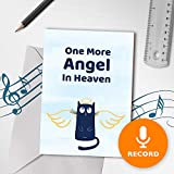 Cat Sympathy Card | Pet Loss Musical Greeting Card, One More Angel In Heaven, Cat Family Pet Loss Card 00127 (No Sound)