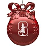 Stanford University - Pewter Christmas Tree Ornament - Red