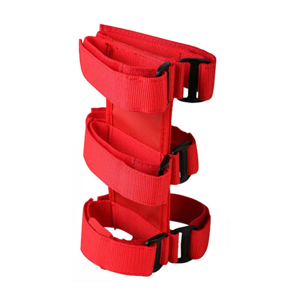 Dade Fire Extinguisher Holder Adjustable Roll Bar Mounted Fit for Jeep Wrangler (Red)