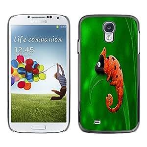 TopCaseStore / la caja del caucho duro de la cubierta de protección de la piel - Cute Funny Chameleon Ladybug - Samsung Galaxy S4 I9500