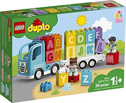 512Qlvi9ViL - LEGO DUPLO My First Alphabet Truck 10915 ABC Letters Learning Toy for Toddlers, Fun Kids' Educational Building Toy, New 2020 (36 Pieces)