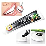 Bamboo Charcoal Teeth Whitening Toothpaste - SMYTShop Best Natural Black Tooth Paste Kit Reduce Oral Disease - 105g