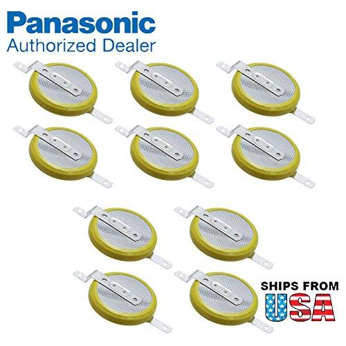 10x Panasonic CR-2032/F2N 3V Lithium Coin Battery SMD (SMT) Tabs For PC CMOS ThinkPad T30 2367 14.1 SXGA T30 2367 14.1 XGA T43 1871 T60 HP PAVILION DV4 DV7 CQ40 CMOS BATTERY GC02000KJ00 CB06