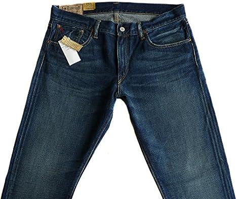 Ralph Lauren New Polo Mens Varick Slim 625 Zip-Fly Jeans (W 36 ...