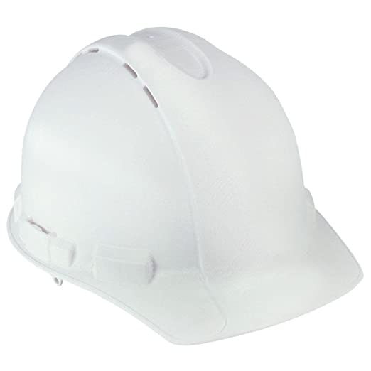 3M White Vented Hard Hat with Ratchet Adjustment (Case of 6) CHH-V-R-W6 and Toucan City Nitrile Dip Gloves(5-Pack) - - Amazon.com