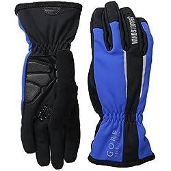GORE BIKE WEAR- Unisex- Ciclismo- Guantes POWER WINDSTOPPER, color negro/azul, talla 10- GWPOWE
