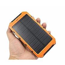 GoEligo 20000 mAh Solar Power Bank with Dual USB Ports (Orange)