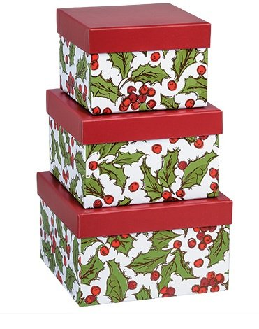 Christmas Nesting Boxes: Christmas Nesting Gift Boxes with Lids ...