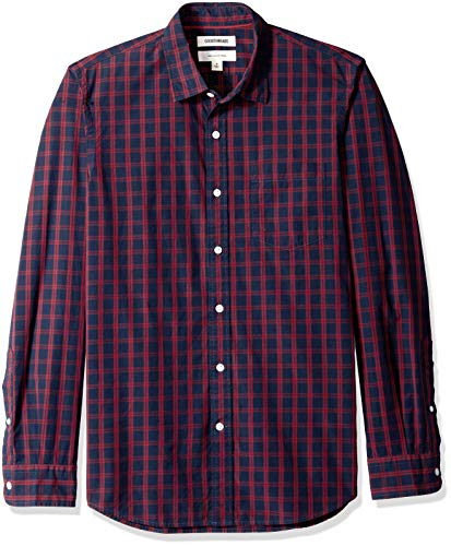 Goodthreads Men's Slim-Fit Long-Sleeve Plaid Poplin Shirt