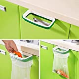 LUQUAN Portable Trash Bag Holder Organizer Holder Kitchen Garbage Hook Over The Cabinet Wastebasket Trash Can Basket Bag Holder For Kitchen, Hanging Cupboard Tailgate Stand Storage Bags Rac