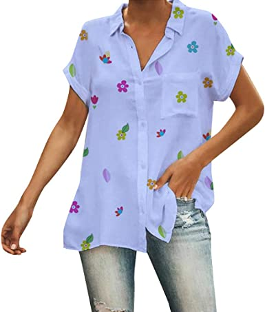 Hokoaidel Camisetas para Mujer, Verano Camiseta Costura Manga ...
