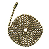 3 Foot Length Ball Chains, #6 Size, Antique