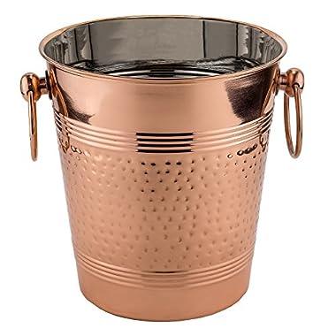 Old Dutch  Fez  Decor Copper Hammered Wine Cooler, Copper