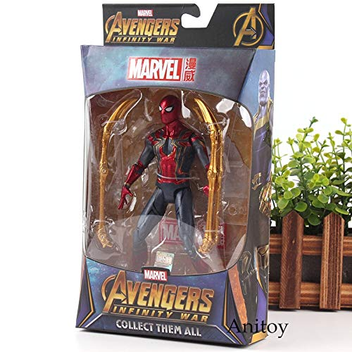 Spiderman with box -Type1607 Avengers 3 Infinity War Marvel Legends Spiderman Black Panther Iron Man Captain America Thanos Hulk Action Figure Collection Toy - Marvel Infinity War Toys