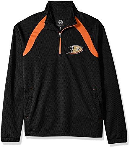 G-III Sports NHL Anaheim Ducks Adult Men High Impact Half Zip Pullover, Large, - Jacket Duck Active Fleece