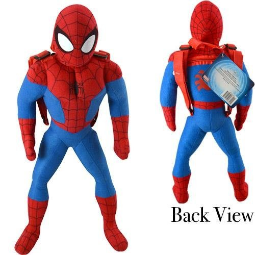 Marvel Spider-man 20.5'' inches Plush Backpack - New with Tags Licensed Product by PLUSH BACKPACK