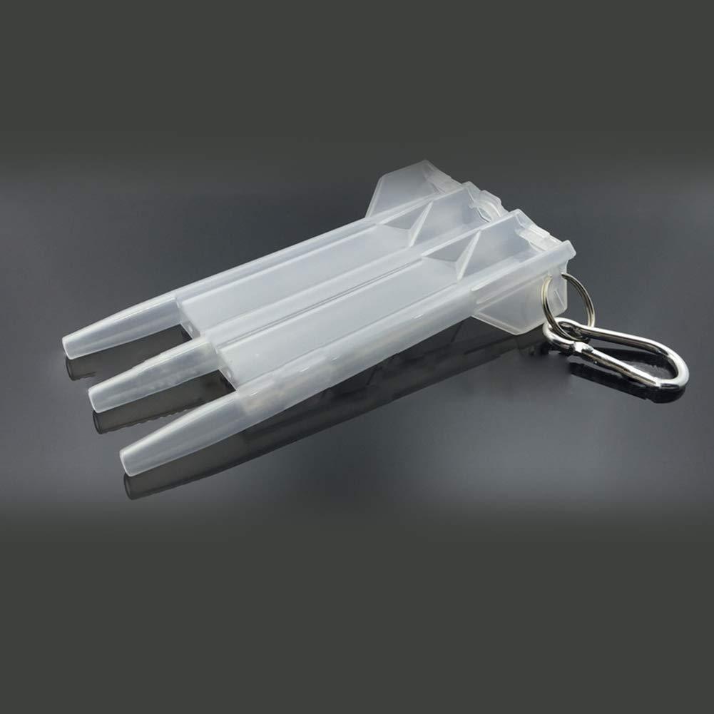 Dardo port/átil Caja Transparente de pl/ástico Titular de Nylon del Organizador del Caso dardo dardo con el dardo de Bloqueo Caja de Almacenamiento Negro