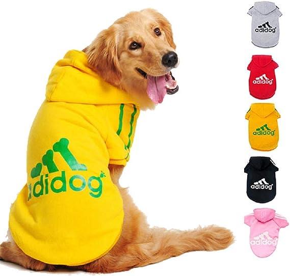 Imagen deDucomi Adidog - Sudadera con Capucha para Perros en Algodón Suave - Costuras Resistentes - Disponibles de XS a 8XL - Se envía Desde España (S, Amarillo)