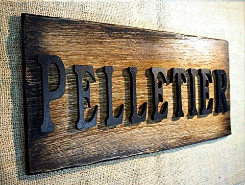 Custom Rustic Sign| The word- name of your choise on, used for sale  Delivered anywhere in Canada