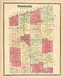 Historic 1875 Map   Newfane [Township]   Antique Vintage Map Reproduction