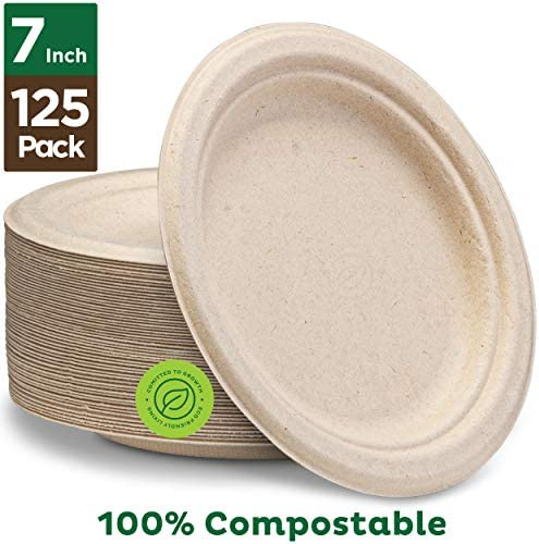 Stack 100 Compostable Paper Plates product image