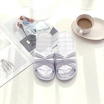 WXMTXLM Zapatillas de verano Zapatillas de mujer verano interior casa linda luz fondo suave chica corazón