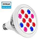 Grow Light Bulb,SOLMORE E27 LED Plant Light Bulb,Grow Light for Plants,Grow Lamp for...