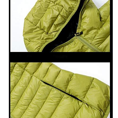 Vert Doudoune Chaud Coton Capuche Courte Taille avec Duvet Grande Manteau de en Femme Amincissant Hiver HANMAX Pq0ZdP
