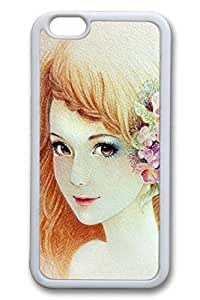Anime Gril 02 Slim Soft Cover Case For Iphone 5c Cover PC White Cases