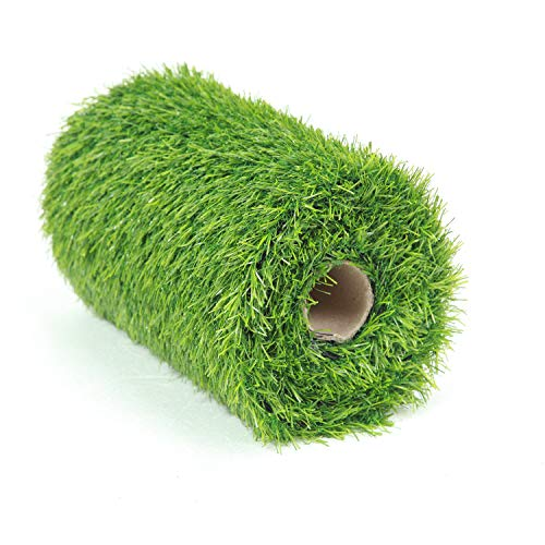 Deseados Artificial Grass Table Runners Synthetic Grass Tabletop Decoration Fake Grass Runner Carpet Roll Green Lawn Turf for Birthday Wedding Party, 0.4M X 1.5M -