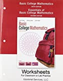 Worksheets for Classroom or Lab Practice for Basic College Mathematics 9780321577757