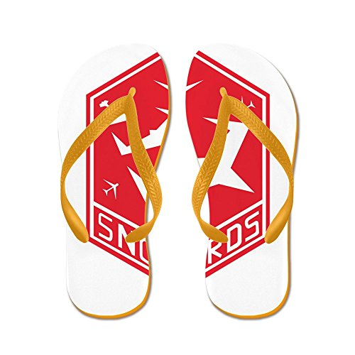 CafePress Snow_Bird_Aerobatic.PNG - Flip Flops, Funny Thong Sandals, Beach Sandals Orange