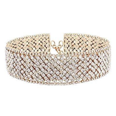 Croozy Womens Luxury Rhinestone Choker Girls Crystal Choker Necklace Bride Collar Party Choker Necklace