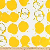 Oilcloth Solvang Yellow Fabric By The Yard by OilCloth International