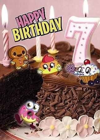 Moshi Monsters Saludos séptimo cumpleaños 3D holográfica ...