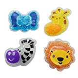 Child Reusable Animal Shaped Cold Packs-Set of 4(Elephant,Giraffe,Zebra,Lion)