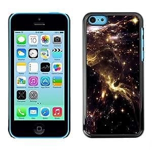 Slim Design Hard PC/Aluminum Shell Case Cover for Apple Iphone 5C Universe Sky Nebulae Stars Lights Cosmos / JUSTGO PHONE PROTECTOR