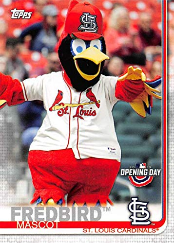 (2019 Topps Opening Day Mascots Baseball #M-22 Fredbird St. Louis Cardinals Official MLB Trading Card)