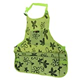 Flameer 2 Kinds Woodworking Bib Apron Tools Oxford Cloth Work Pockets Men Women Electrician - Green, 60x65x2cm