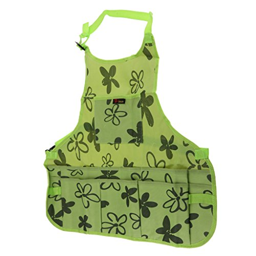 Fityle Utility Work Apron Tool Pocket Woodworking Gardening Craft Mechanic Woodshop Pockets Aprons Green/Brown Select - Green, 60x65x2cm by Fityle (Image #5)