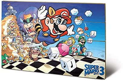 Amazon Com Pyramid International Super Mario Bros 3 Art Wood