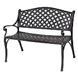 Cheap Giantex 40″ Outdoor Antique Garden Bench Aluminum Frame Seats Chair Patio Garden Furni(Ancient Green)
