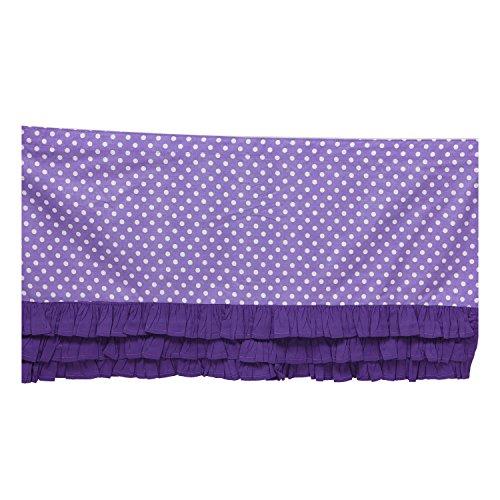 Bacati Mix and Match Ruffled Bottom Dots Crib Skirt, Purple