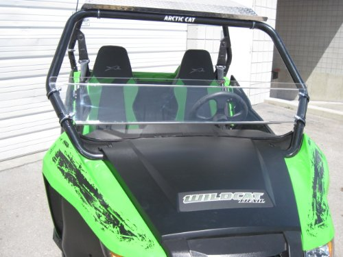 Arctic Cat Wildcat (Trail/Sport Only) 12'' Tall Half WindshieldTallest on the market (we make shorter upon request let us know at time of order). Made in America by UTV Windshields and Accessories
