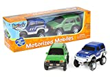 motorized toy cars - International Playthings Kidoozie Build-A-Road Motorized Mobiles - Extra Moving Cars 2 Set - For Independent and Track Play - For 3 Years and Up