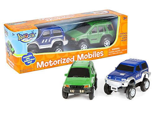International Playthings Kidoozie Build-A-Road Motorized Mobiles - Extra Moving Cars 2 Set - For Independent and Track Play - For 3 Years and Up