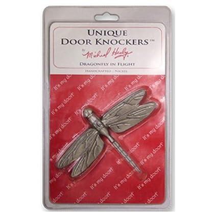 Merveilleux Dragonfly In Flight Door Knocker   Nickel Silver (Standard Size)
