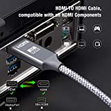4K HDMI Cable 6.6 ft,Capshi High Speed 18Gbps HDMI