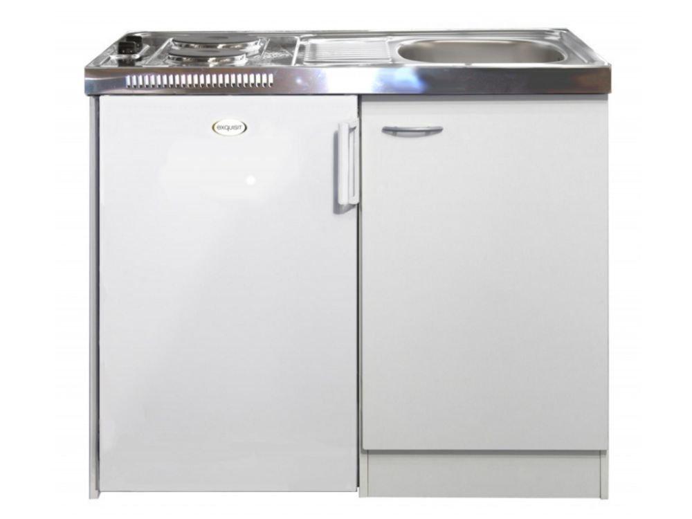 Pantryküche mit kühlschrank  PANTRY-KÜCHE, MELAMIN weiß inkl. KÜHLSCHRANK, KOCHFELD + SPÜLE ...